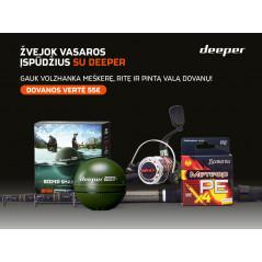 DEEPER CHIRP+ rinkinys (CHIRP+, Volzhanka: meškerė, ritė, valas)