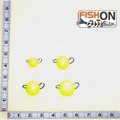 Volframinės čeburaškos (5-20g) salotinės spalvos