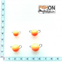 Volframinės čeburaškos (5-20g) oranžinės spalvos