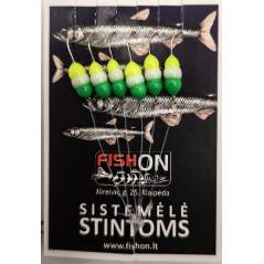 FISH ON stintinė sistemėlė 6 kabliukų (6 rūšys)