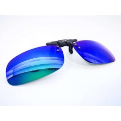 Prisegami poliarizuoti akiniai (veidrodiniais lęšiais)