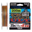 SUNLINE PE Jigger ULT 4 200m Multi Color (0.8-2.0)