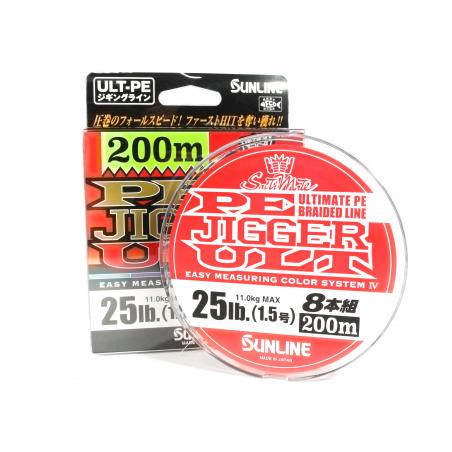 SUNLINE PE Jigger ULT 8 200m Multi Color (0.8-2.0)