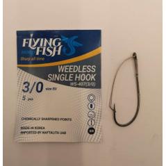 FLYING FISH kabliukai WEEDLESS SINGLE HOOK (Nr.1/0-3/0)