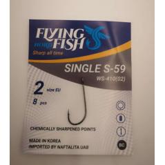 FLYING FISH kabliukai SINGLE S-59 (Nr.10-1/0)
