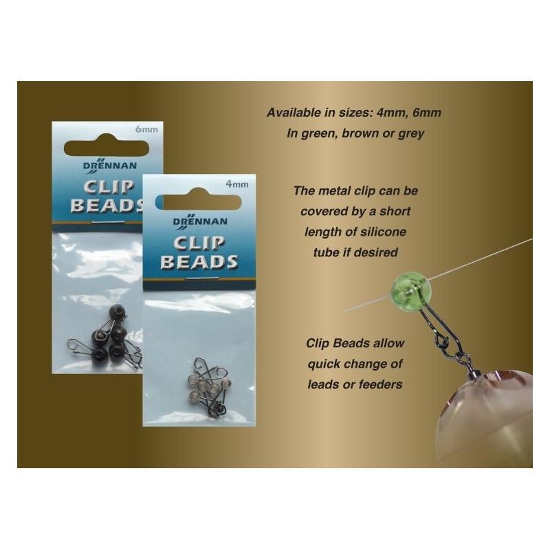 DRENNAN Clip Beads 5vnt (4-6mm)