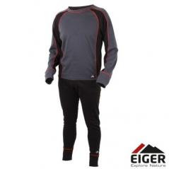 EIGER Active Underwear Set Black/Grey (Dydis S-XXL)
