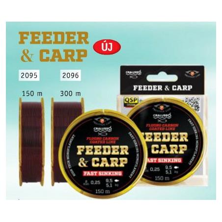 CRALUSSO Feeder & Carp Fluoro Carbon Coat 300m (0.22 - 0.30)
