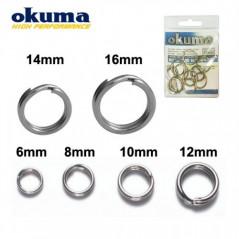 OKUMA Split Ring Saltwater (6-14mm)
