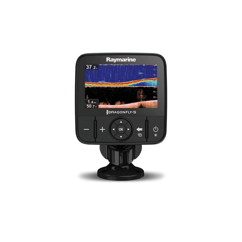 RAYMARINE Dragonfly 5PRO su CHIRP Down Vision ir sonaru , Wi-Fi, GPS, be jūrlapių