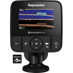 RAYMARINE Dragonfly 4PRO su CHIRP Down Vision ir sonaru , Wi-Fi, GPS, be jūrlapių