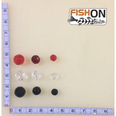 Stikliniai karoliukai Juodi (6-10mm)