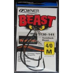 OWNER kabliukai Beast 5130 (Nr.4/0-12/0) su spyruokle