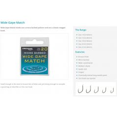 DRENNAN kabliukai Wide Gape Match (Nr.18-14)